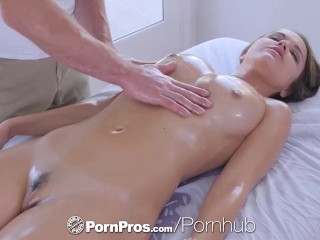 PornPros cascading moist muff rubdown together with tear up for chesty Dillion Harper best porn