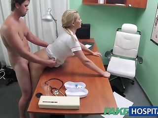 Blondie nurse helps dear boy get an full immortalize with her mitts free porn