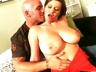 Blowjob, Boobs, Brunette, Bus, Dress, Facial, Milf, Mom, Naughty, Pussy, Red, Riding, Sex, Tits, Big pussy, Big tits