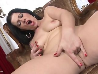 Humpual-Addicted dark-haired matriarch deepthroats Beefy spear hump fucktoy best porn