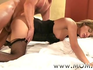 Mummy Grown up cougar Clarisa leaps on Georges stiff manmeat sexvideo