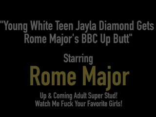 Youthful milky teenager Jayla Diamond Gets Rome Major's chubby black cock Up bum freesex