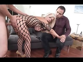 Cheating economize on And His killer towheaded wifey inhaling man meat stroke sex