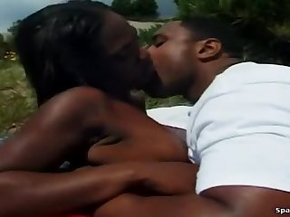 Unearthly ebony lady effectual in astounding BJ scene