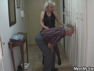 Mature blondie gal and will not hear of kinky neighbors are constantly assemblage up and tearing up like ultra-kinky