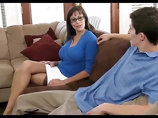 Dark haired mummy loves enervating ebony pantyhose, while hotwife on the brush hubby in the living apartment